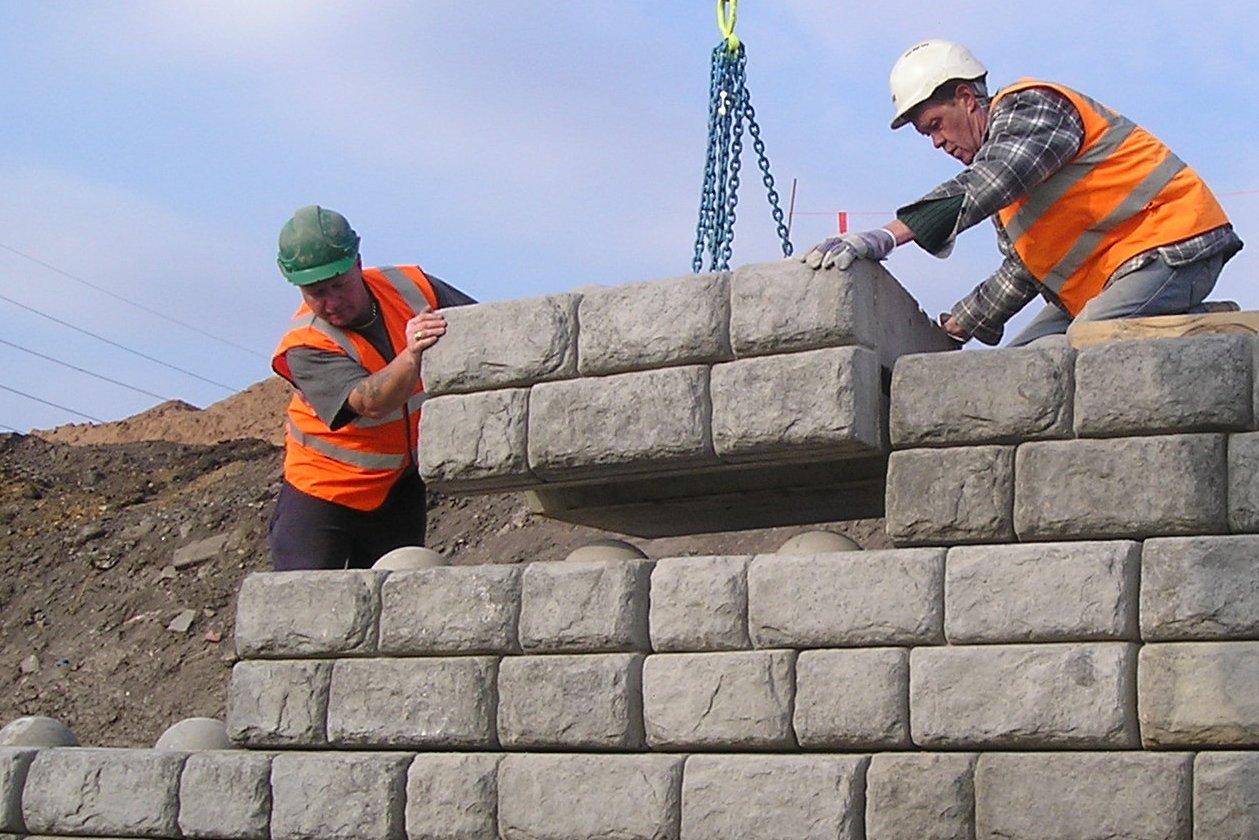 Geotill Large Blocks Walls